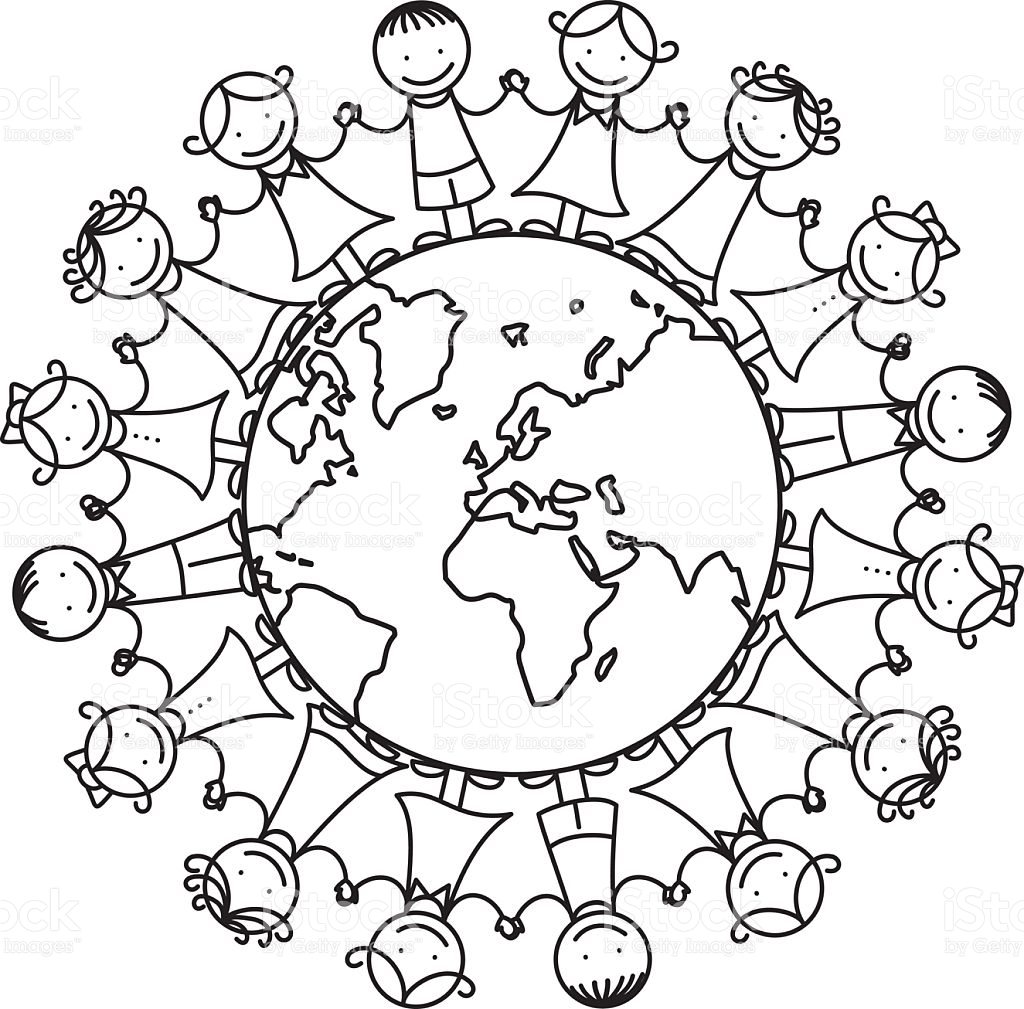 World Peace Clipart Black And White.