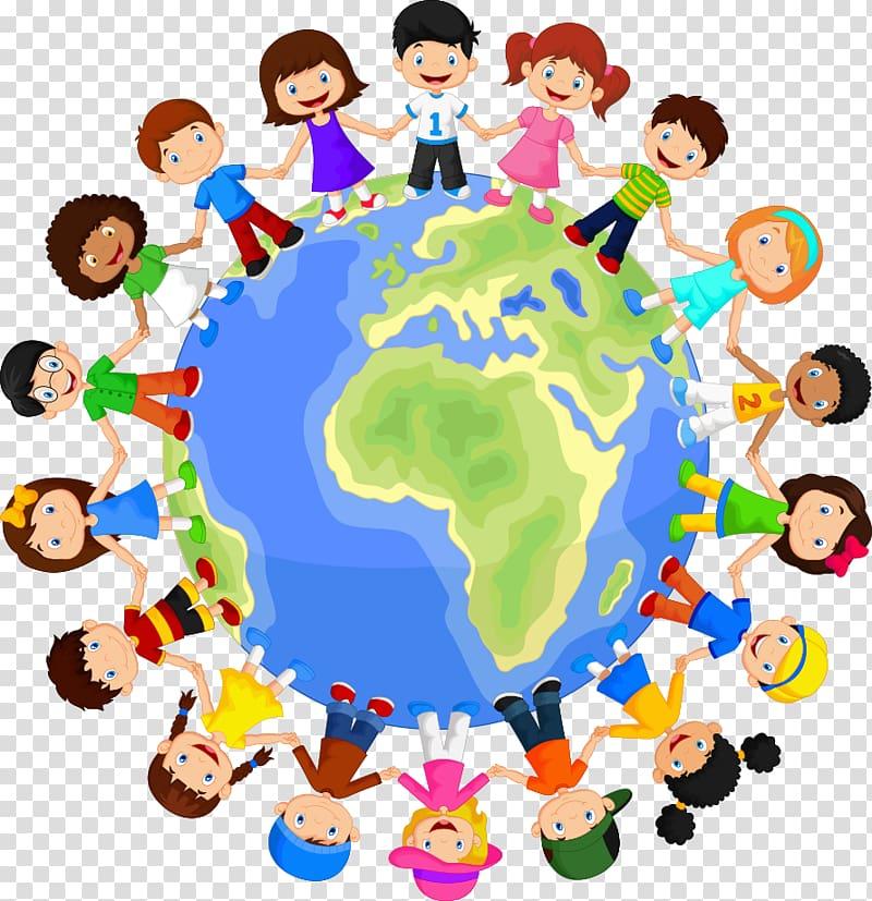 Children around the world illustration, Child , child on.