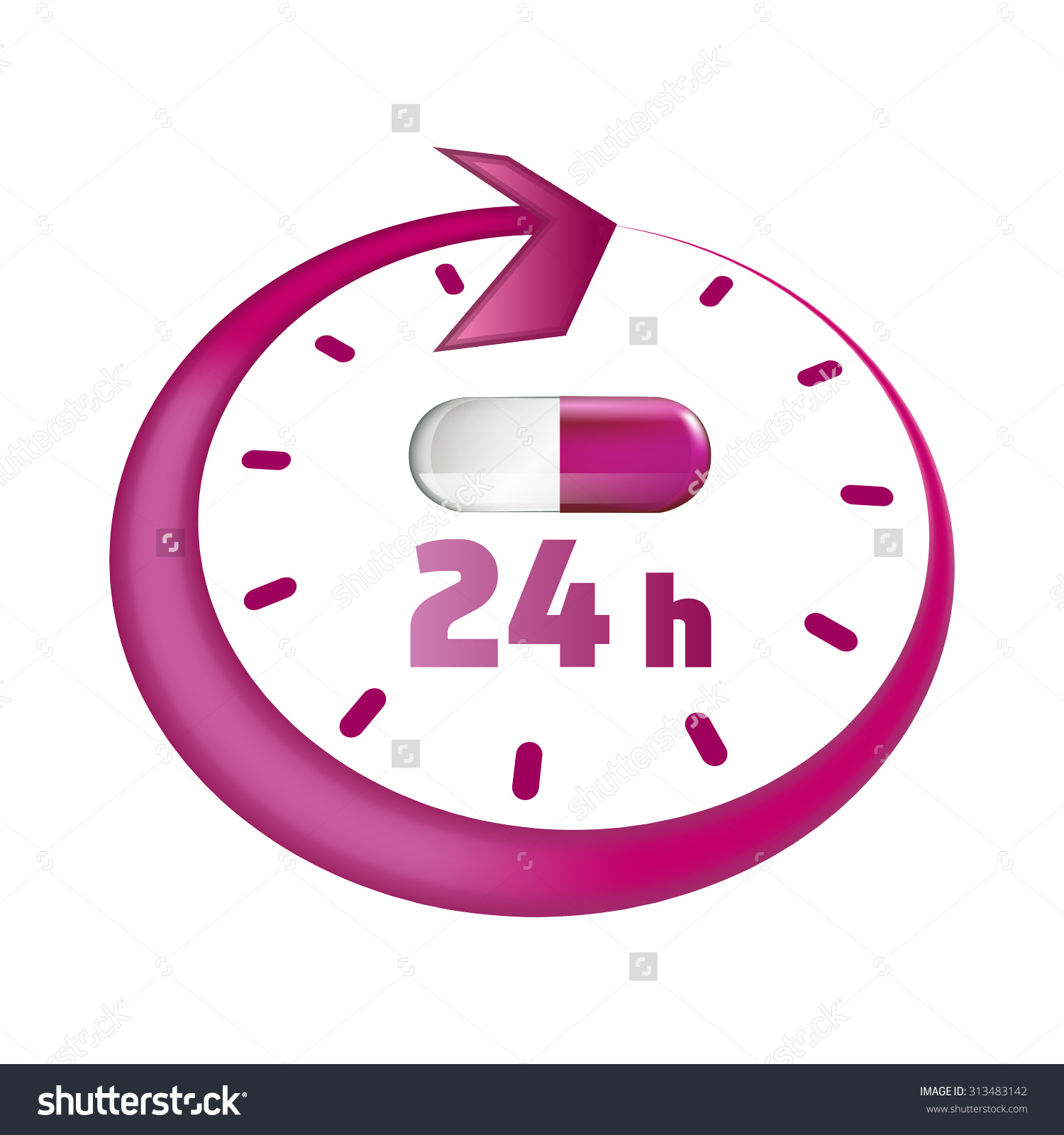 Open Around Clock 24 Hours Take Stock Vector 313483142.