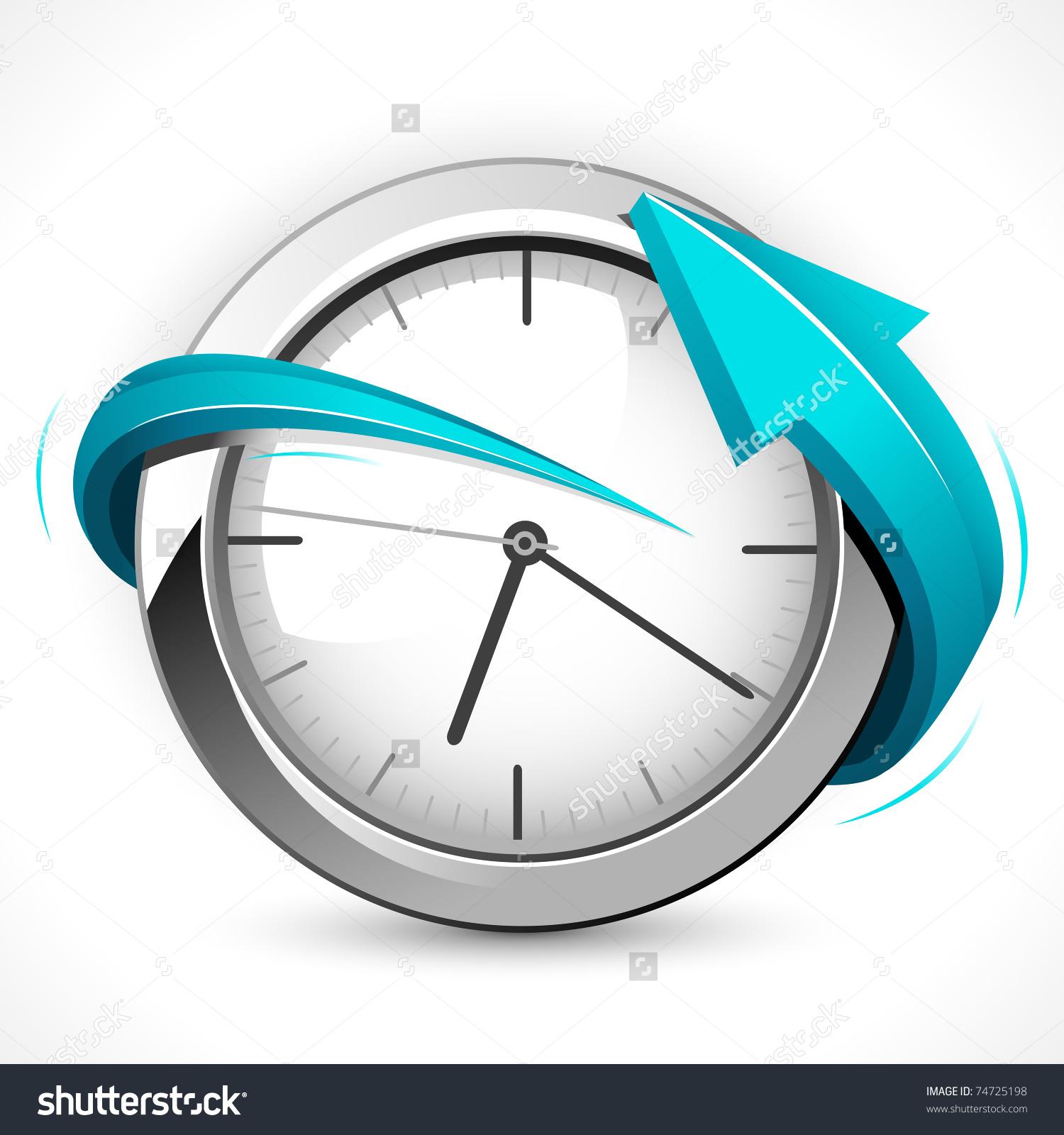 Illustration Arrow Around Clock On Abstract Stock Vector 74725198.