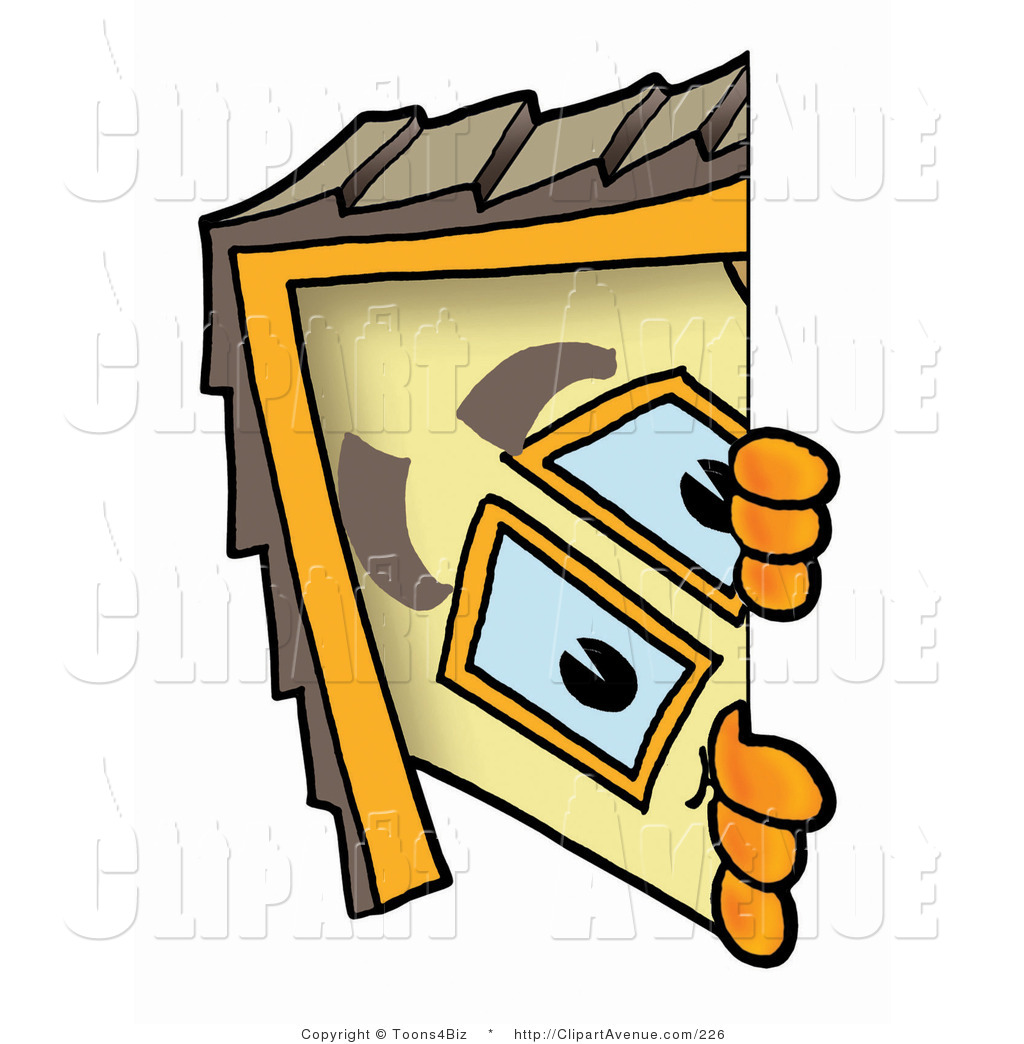 Avenue Clipart of a Yellow House Mascot Cartoon Character.
