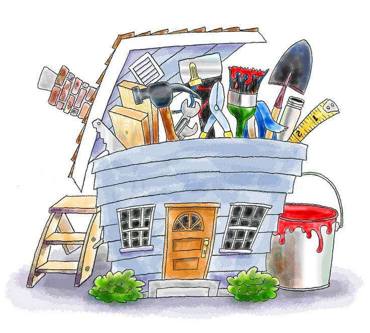 Repairs around the house clipart.