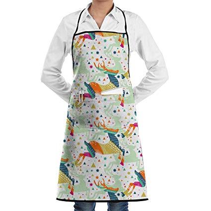 Amazon.com: Elk Colorful Clipart Kitchen Apron.