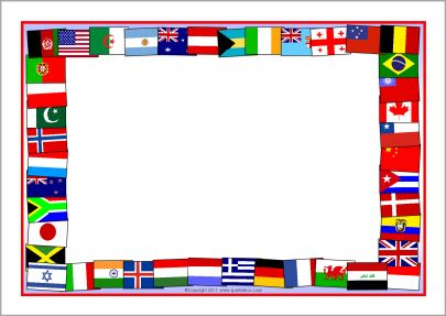 Flags of the world A4 page borders (SB5827).