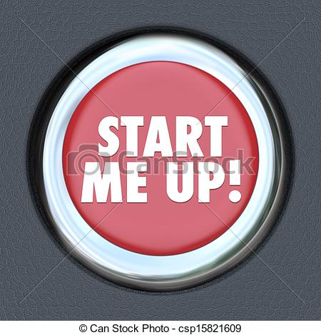 Stock Photography of Start Me Up Car Starting Button Engine.