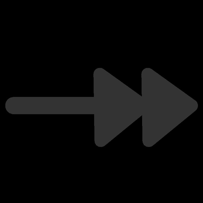 Free Clipart: Ftline double arrow end.