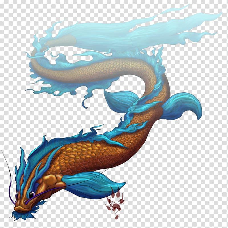 Dragon Koi Goldfish Asian arowana, remove fishy transparent.