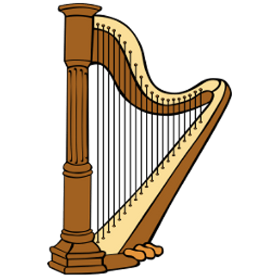 Harp transparent PNG.