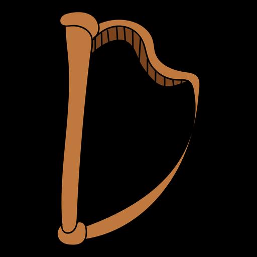 Harp musical instrument doodle.