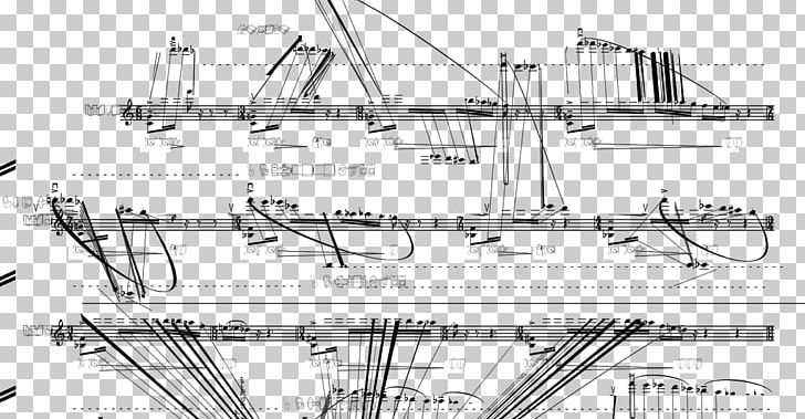 Sailing Ship Technical Drawing Naval Architecture Sketch PNG.