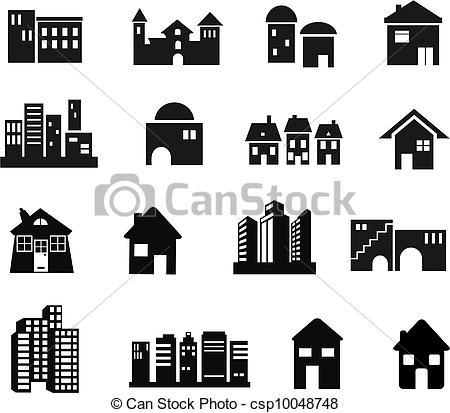 Dibujos de arquitectura, iconos.