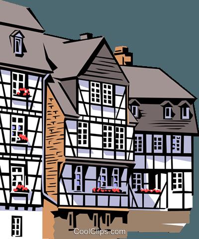 arquitetura alemã livre de direitos Vetores Clip Art ilustração.