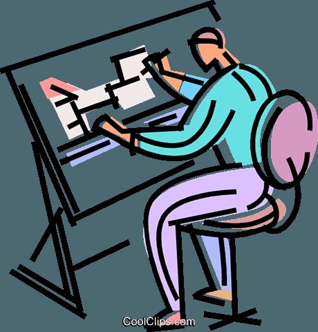 arquitetos e designers livre de direitos Vetores Clip Art.