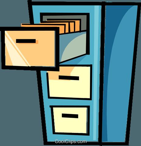 Arquivo Armário livre de direitos Vetores Clip Art ilustração.