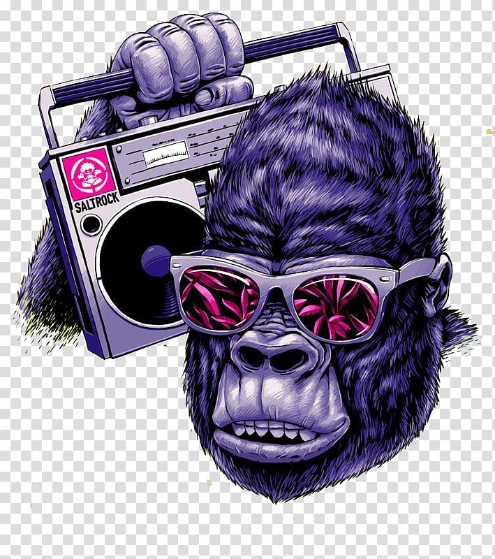 Rock orangutan transparent background PNG clipart.