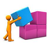 Stock Illustrations of People arrange box k12303510.