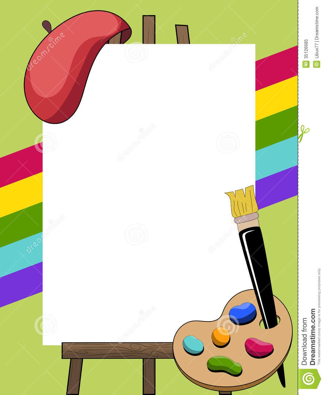 Artist Border Clipart.