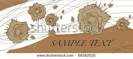 Roses Thorns Stock Vector 67835608.