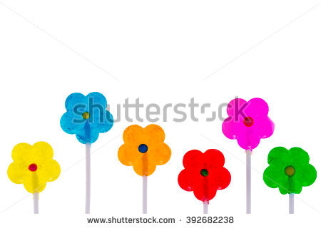Free Colorful vibrant spring background with copy space on white.