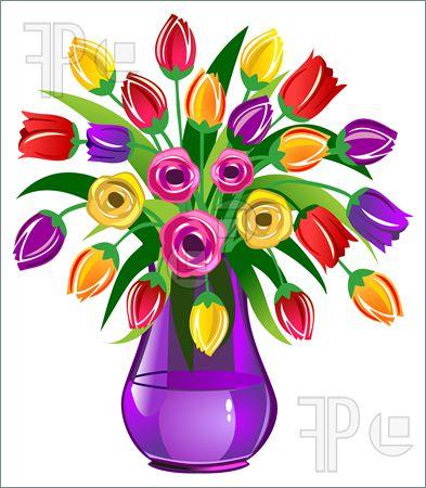 Flower arrangement clip art.