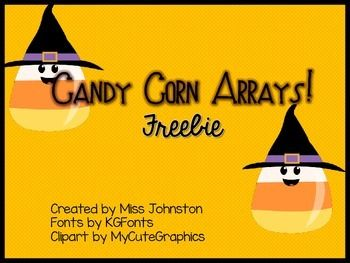 Candy Corn Arrays! Freebie.