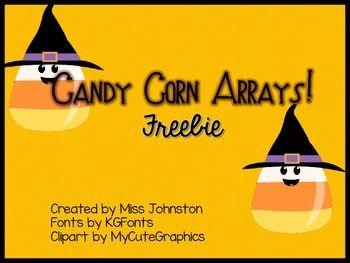 Candy Corn Arrays! Freebie.