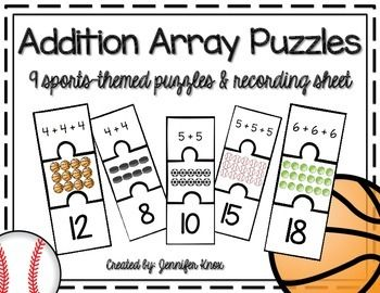 Addition Array Puzzles {Sports.