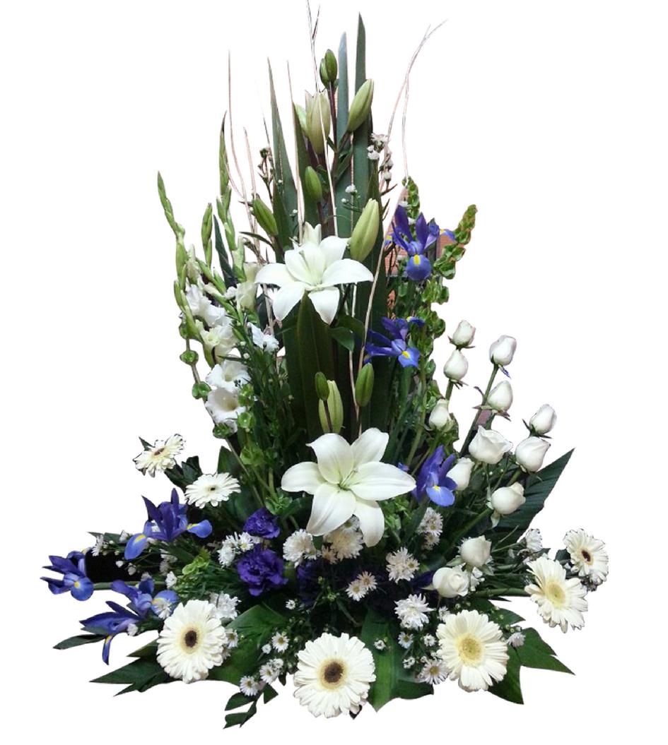 Arreglos Florales de Rosas Blancas.