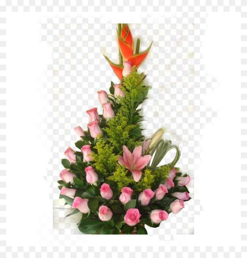 Arreglo Floral Blanco Png.