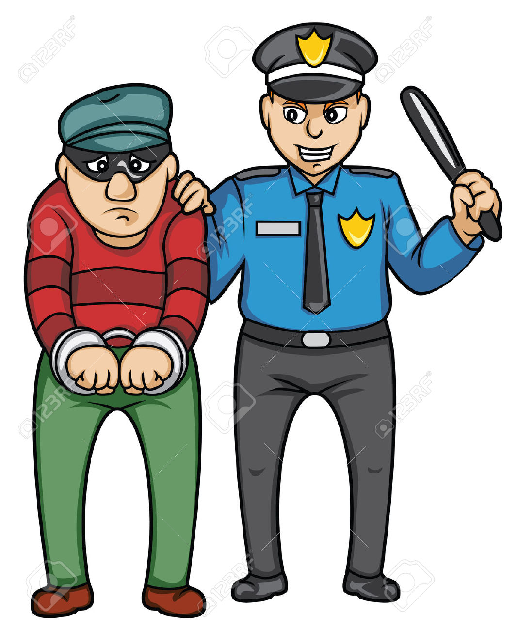 Police arrest clipart.