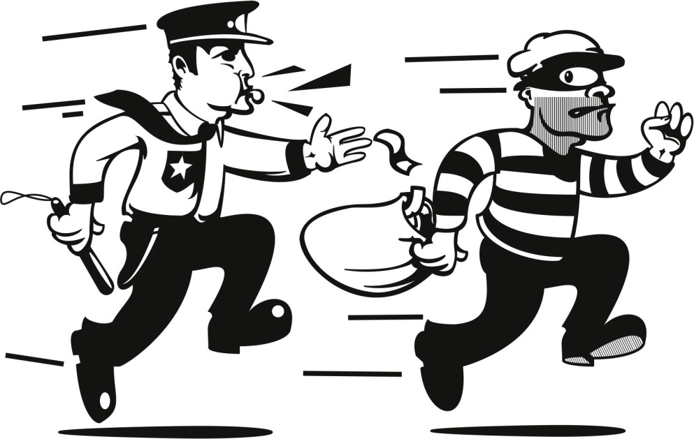 Police Arresting Someone Clipart.