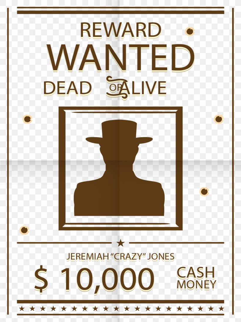 Wanted Poster Arrest Adobe Illustrator, PNG, 898x1197px.