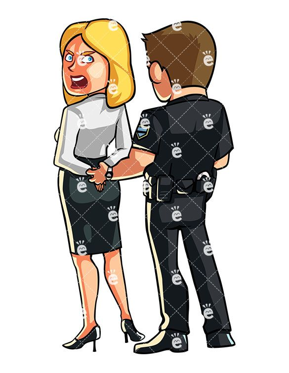 Police Officer Handcuffing A Protesting Woman in 2019.