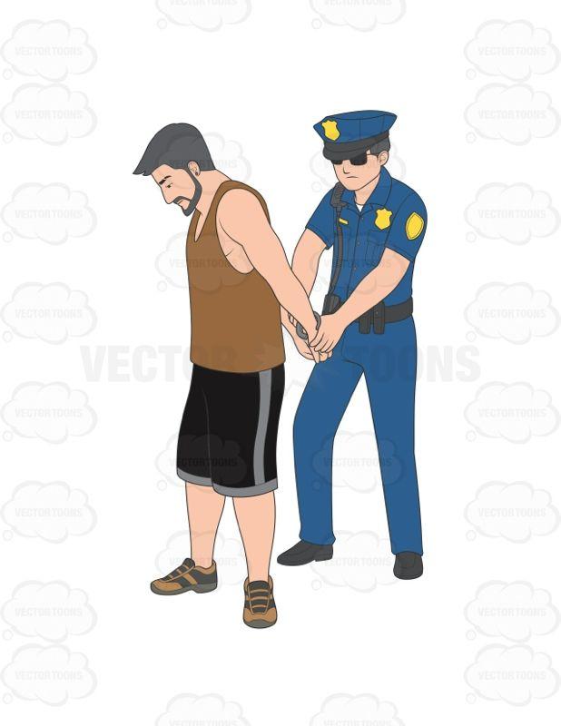 Male Police Officer Arresting A Man #arrest #arresting.
