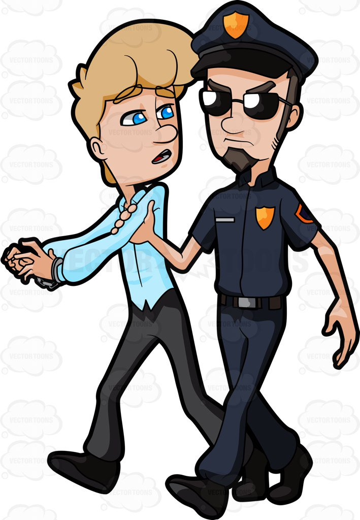 Cop Arresting Someone Clipart.