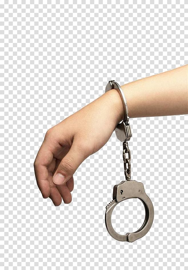 Crime Handcuffs Arrest Police, Hand with handcuffs.