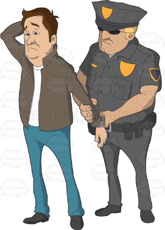 Police Officer Arresting Someone Clipart.
