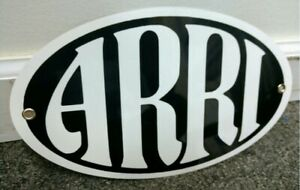 Details about Retro ARRI Logo Metal Oval Sign • Arriflex Movie Cameras.