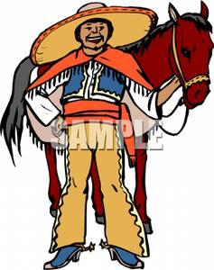 Mexican Man with a Burro.