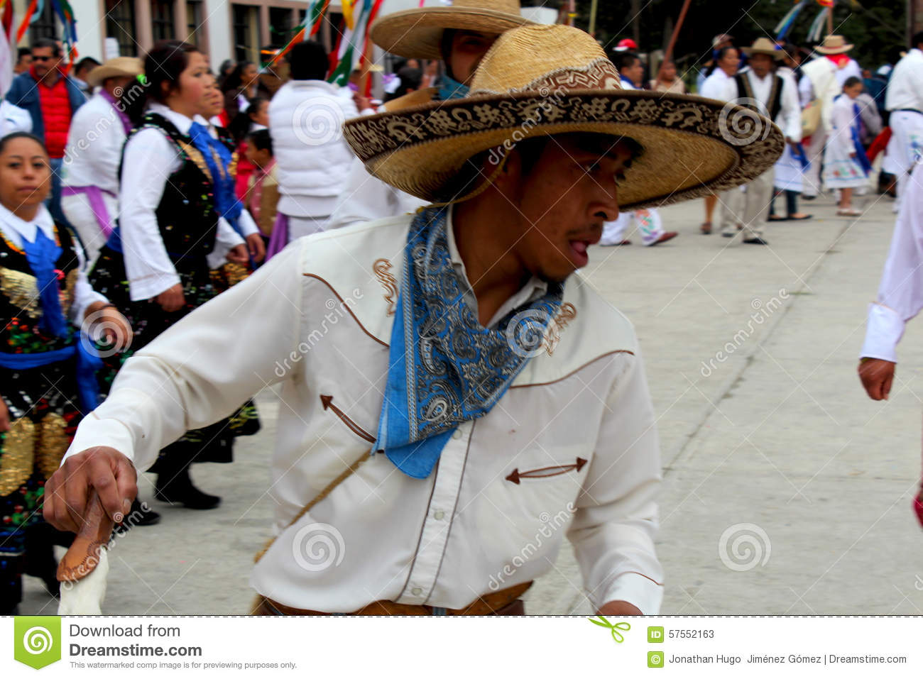Mexican Adult Male Dancer Arriero Editorial Stock Photo.
