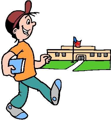School Arrival Clipart.