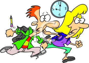 Be on time clipart.