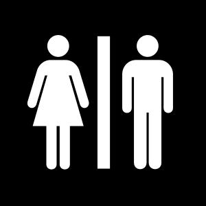 Aiga toilets SVG Vector file, vector clip art svg file.