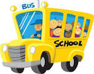 Arriving school clipart.