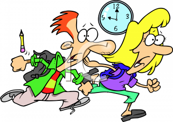 Arrive To Class On Time Clipart.