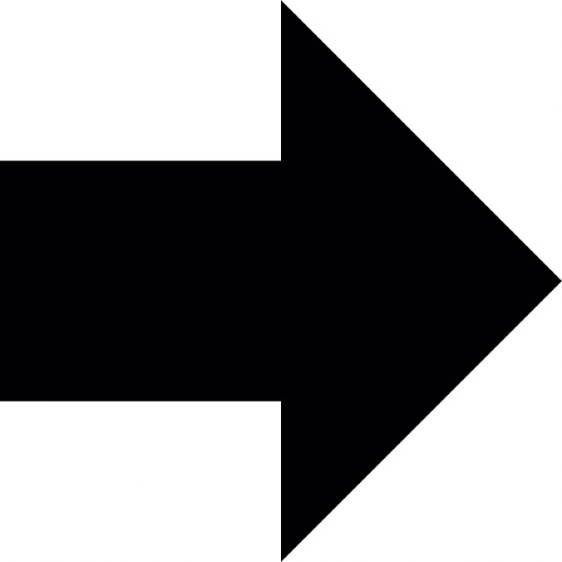 Arrow full shape pointing to right direction Icons.