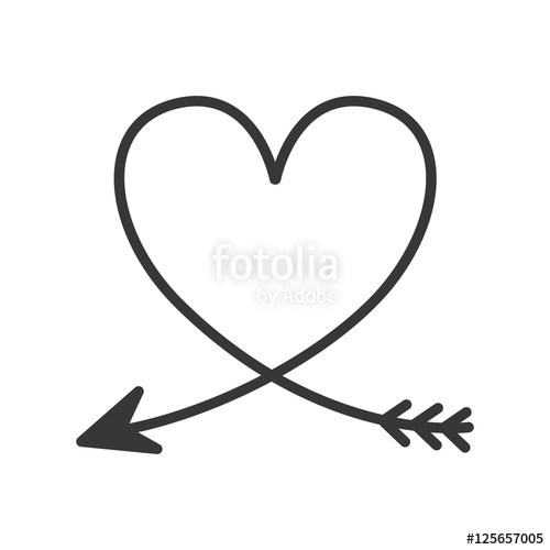 Arrow heart clipart » Clipart Station.
