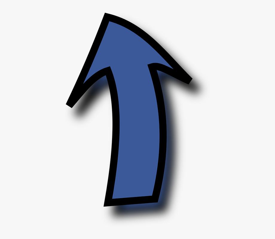 Arrow Blue Up Curved.