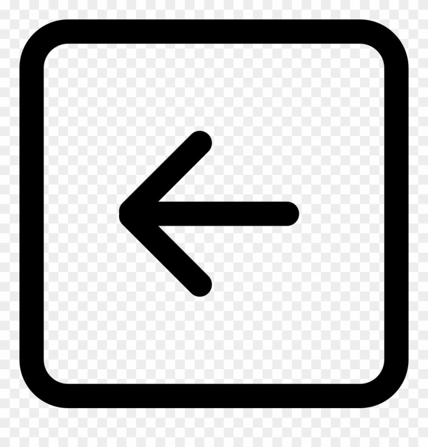 Back Left Arrow Square Button Outline Comments.