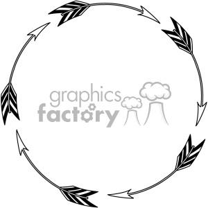 circle arrow design vector art clipart. Royalty.